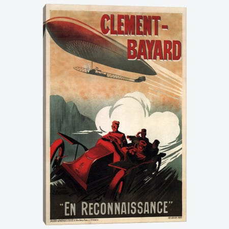 Clement - Bayard (En Reconnaissance) Advertising Vintage Poster Canvas Print #5204} by Unknown Artist Canvas Art