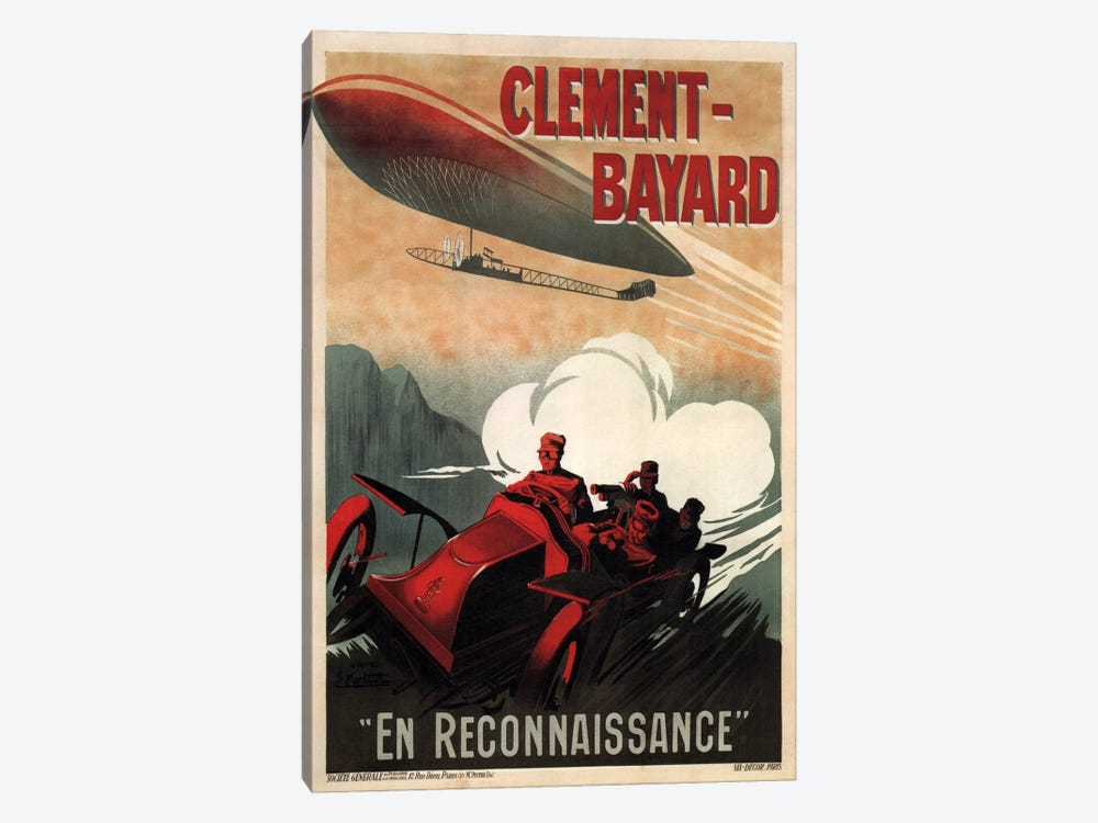 Clement - Bayard (En Reconnaissance) Advertising Vintage Poster 1-piece Canvas Art Print