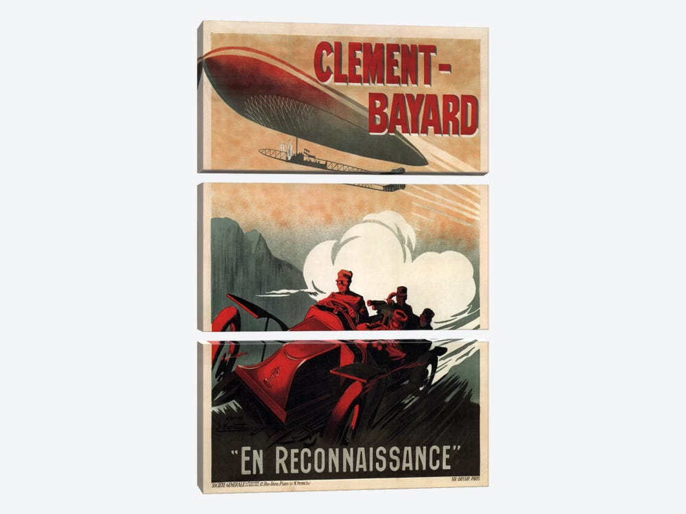 Clement - Bayard (En Reconnaissance) Advertising Vintage Poster 3-piece Art Print