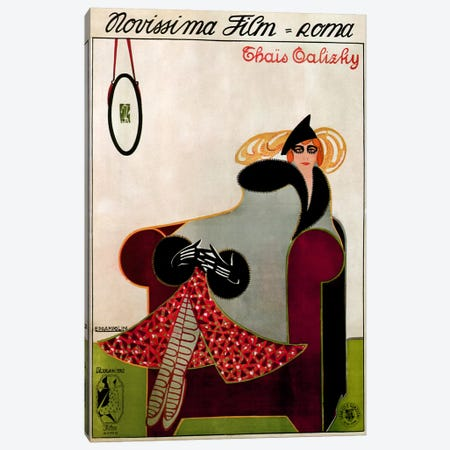 Novissima Film (Roma) Advertising Vintage Poster Canvas Print #5210} by Unknown Artist Canvas Artwork