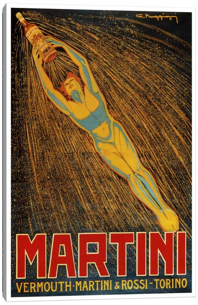 Martini (Vermouth Martini & Rossi) Advertising Vintage Poster Canvas Art Print