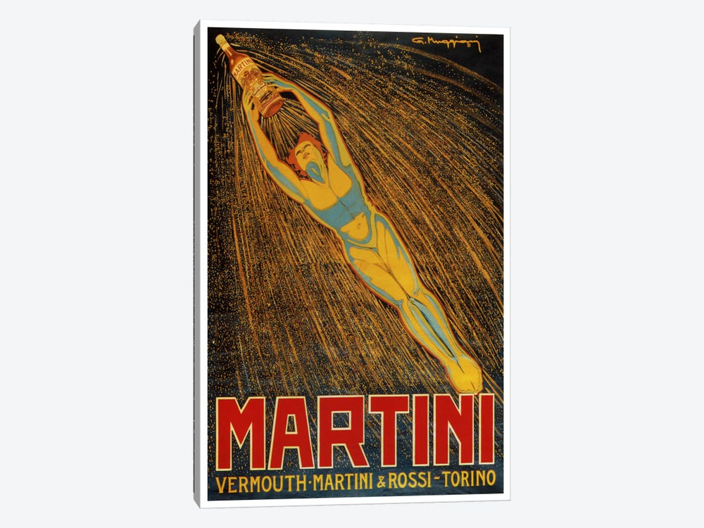 Martini (Vermouth Martini & Rossi) Advertising Vintage Poster 1-piece Canvas Artwork