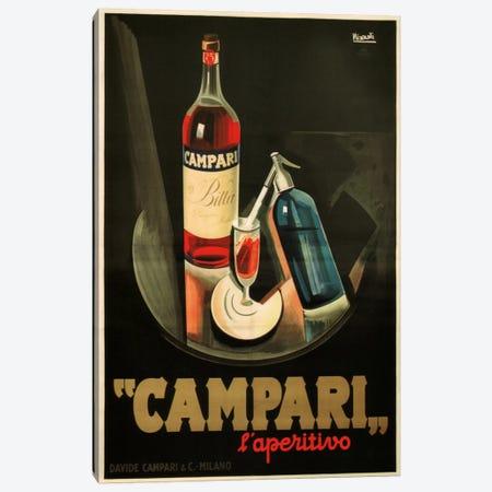 Campari Aperitivo Advertising Vintage Poster Canvas Print #5215} by Marcello Nizzoli Canvas Art Print