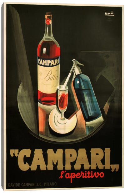 Campari Aperitivo Advertising Vintage Poster Canvas Art Print