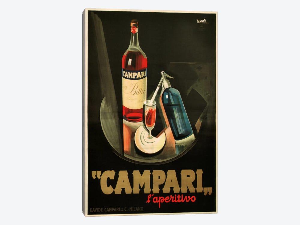 Campari Aperitivo Advertising Vintage Poster by Marcello Nizzoli 1-piece Canvas Art Print