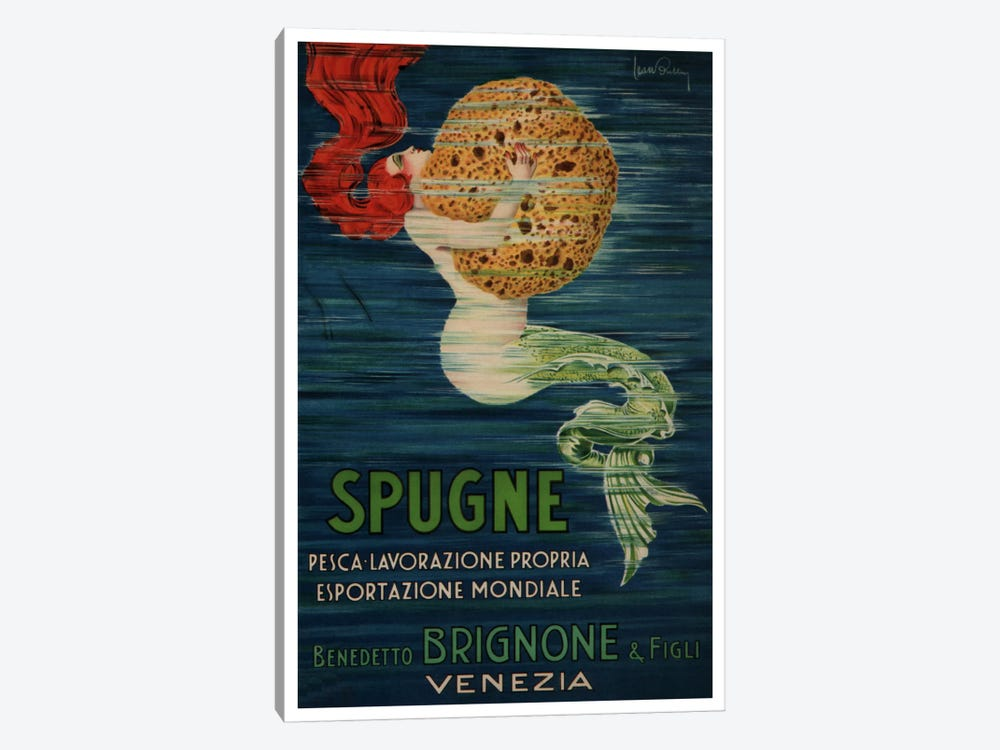 Spugne Benedetto Brignone & Figli (Venezia) Advertising Vintage Poster 1-piece Canvas Artwork
