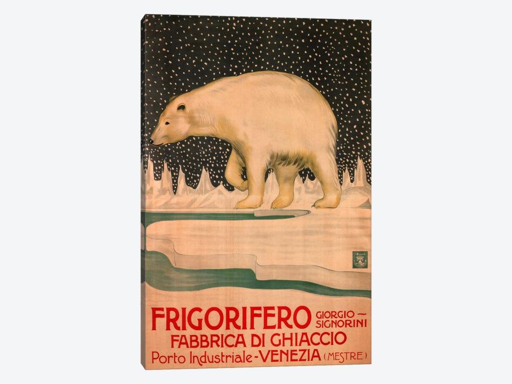 Giorgio Signorini Refrigerator Ice Factory, Venice Vintage Advertisement by Unknown Artist 1-piece Canvas Art Print