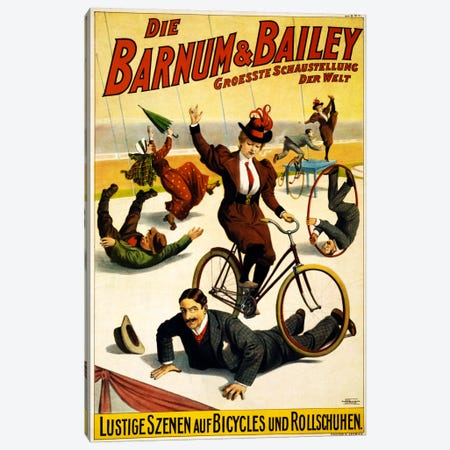 Die Barnum & Bailey Groesste Schaustellung Der Welt Advertising Vintage Poster Canvas Print #5225} by Unknown Artist Canvas Wall Art