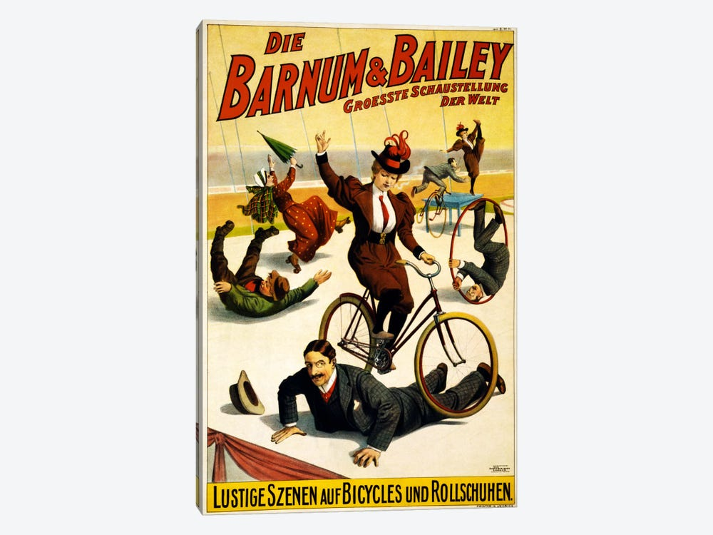 Die Barnum & Bailey Groesste Schaustellung Der Welt Advertising Vintage Poster by Unknown Artist 1-piece Canvas Wall Art