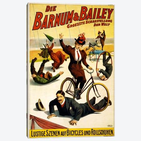 Die Barnum & Bailey Groesste Schaustellung Der Welt Advertising Vintage Poster Canvas Print #5225} by Unknown Artist Canvas Wall Art