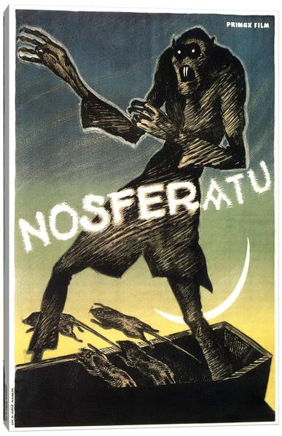 Nosferatu (Movie) Advertising Vintage Poster Canvas Art Print