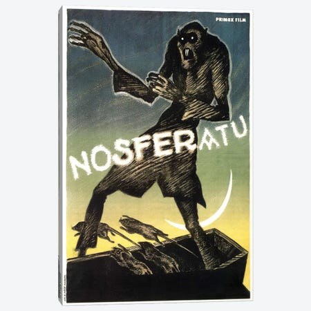 Nosferatu (Movie) Advertising Vintage Poster Canvas Print #5231} by Unknown Artist Canvas Artwork