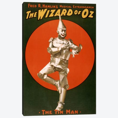 The Wizard of Oz (The Tin Man) Advertising Vintage Poster Canvas Print #5238} Canvas Wall Art