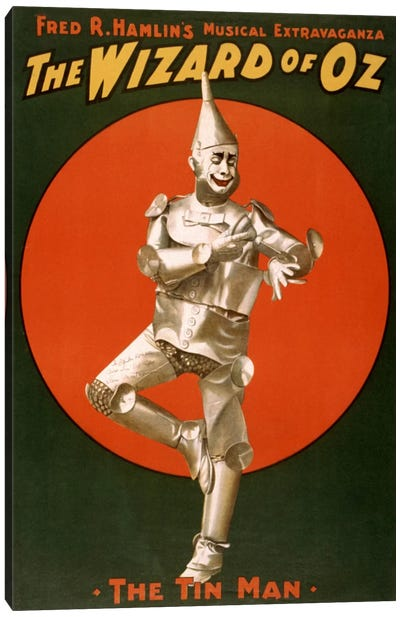 The Wizard of Oz (The Tin Man) Advertising Vintage Poster Canvas Print #5238