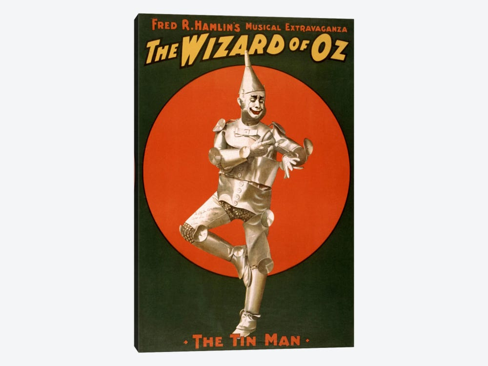 The Wizard of Oz (The Tin Man) Advertising Vintage Poster by Unknown Artist 1-piece Canvas Wall Art