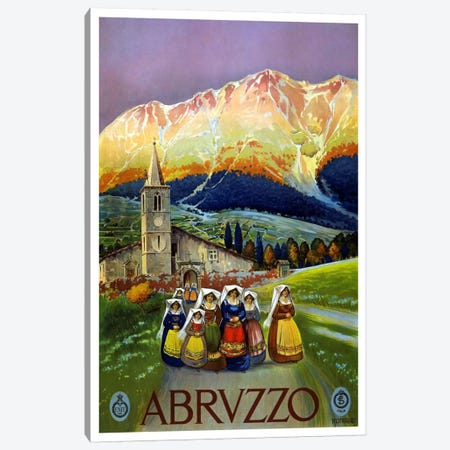 Abrvzzo (Abruzzo) Advertising Vintage Poster Canvas Print #5239} by Unknown Artist Canvas Artwork
