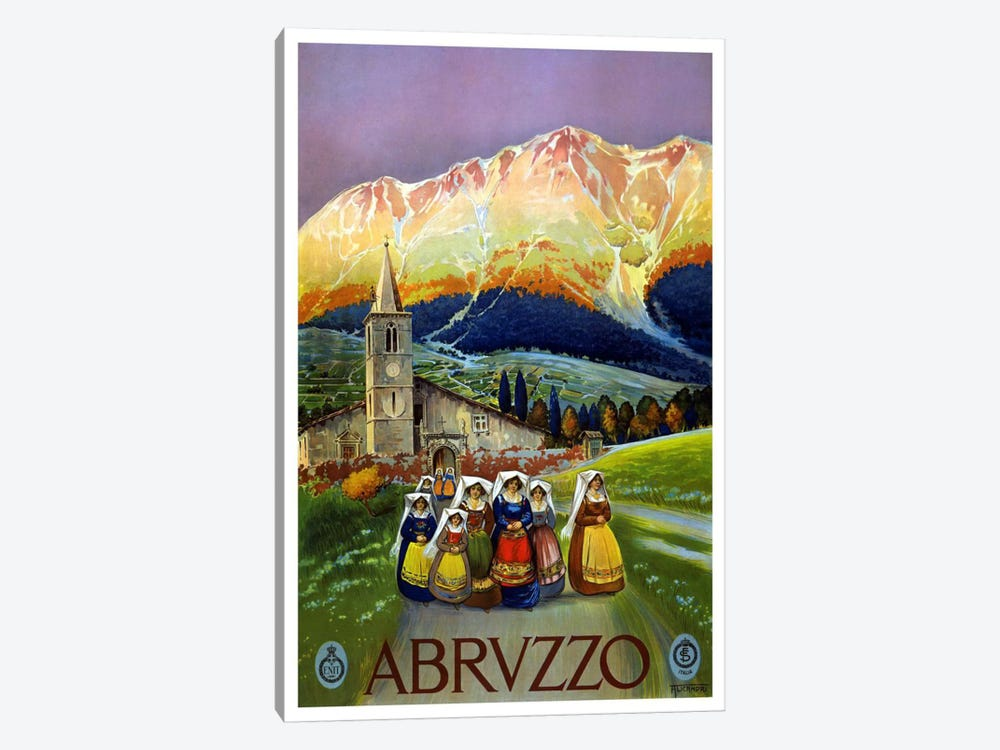 Abrvzzo (Abruzzo) Advertising Vintage Poster by Unknown Artist 1-piece Art Print