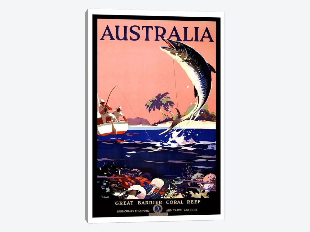Australia (Great Barrier Coral Reef) Advertising Vintage Poster 1-piece Art Print
