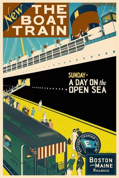 The Boat Train Boston And Maine Railroad Ad Unknown