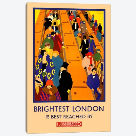 Brightest London is Best Reached Canvas Print #5245} by Unknown Artist Canvas Art