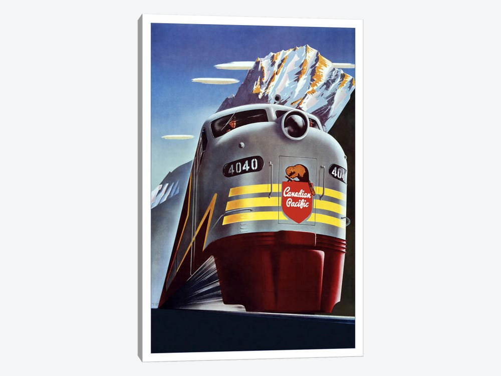 Canadian Pacific (Railway Train) Advertising Vintage Poster 1-piece Canvas Art