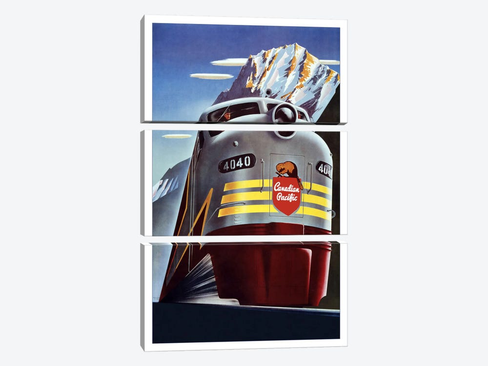 Canadian Pacific (Railway Train) Advertising Vintage Poster 3-piece Canvas Artwork
