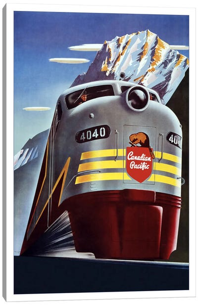 Canadian Pacific (Railway Train) Advertising Vintage Poster Canvas Art Print