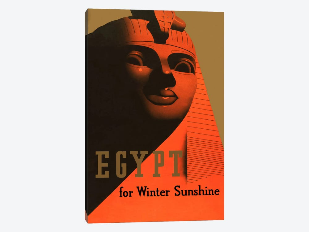 Egypt for Winter Sunshine Advertising Vintage Poster 1-piece Canvas Art Print