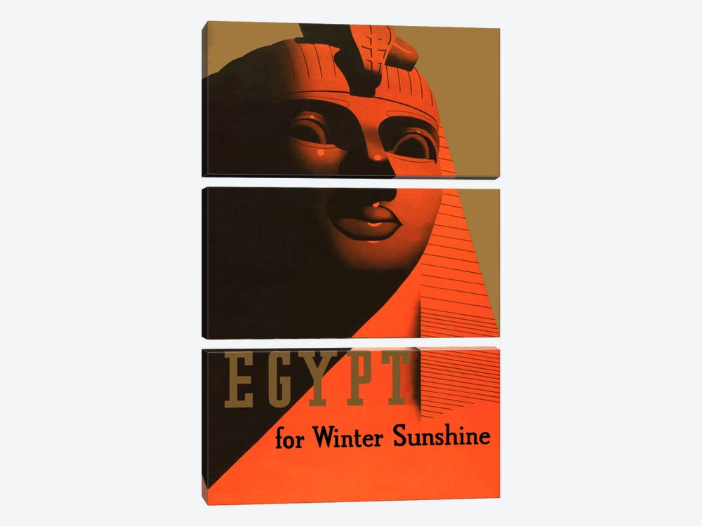 Egypt for Winter Sunshine Advertising Vintage Poster 3-piece Canvas Print