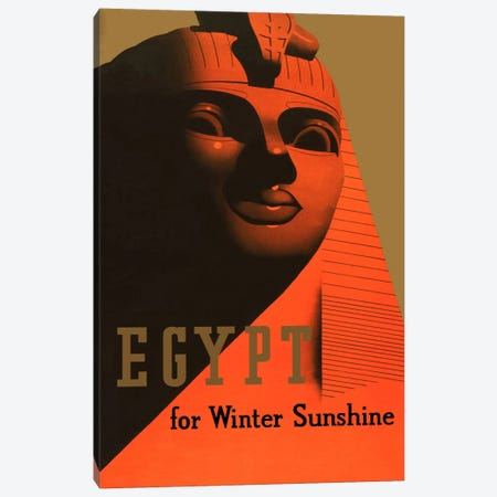 Egypt for Winter Sunshine Advertising Vintage Poster Canvas Print #5253} by Unknown Artist Canvas Art