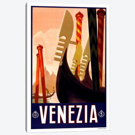 Venezia Advertising Vintage Poster Canvas Print #5256} by Unknown Artist Canvas Art Print