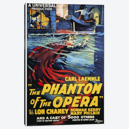 The Phantom of The Opera Advertising Vintage Poster Canvas Print #5260} by Unknown Artist Canvas Print