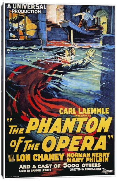The Phantom of The Opera Advertising Vintage Poster Canvas Art Print