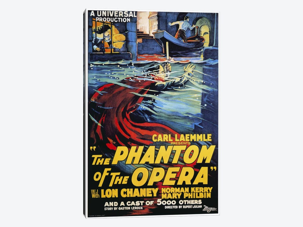 The Phantom of The Opera Advertising Vintage Poster by Unknown Artist 1-piece Canvas Art Print