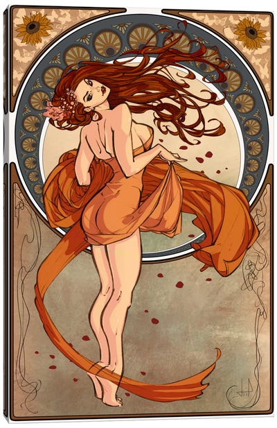 Art Nouveau Advertising Vintage Poster Canvas Art Print
