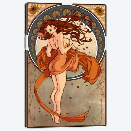 Art Nouveau Advertising Vintage Poster 3-Piece Canvas #5266} by Unknown Artist Canvas Artwork