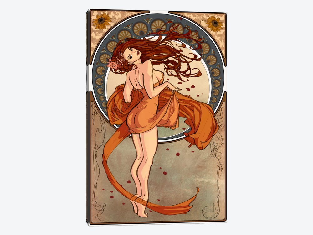 Art Nouveau Advertising Vintage Poster by Unknown Artist 1-piece Canvas Art Print