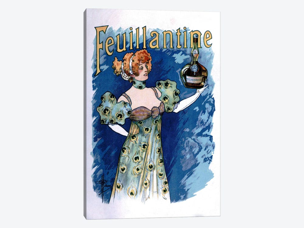 Feuillantine Advertising Vintage Poster 1-piece Canvas Artwork