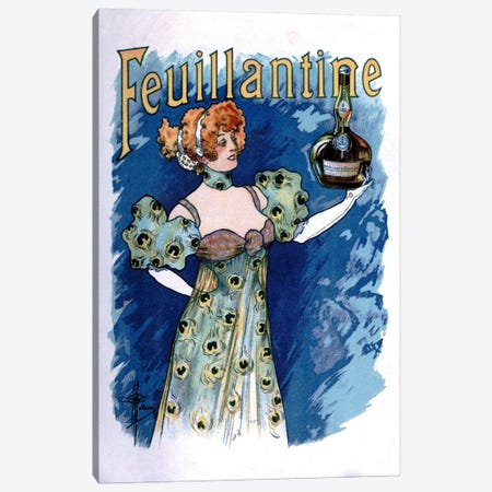 Feuillantine Advertising Vintage Poster 3-Piece Canvas #5267} by Unknown Artist Canvas Art