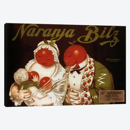 Naranja Bilz Advertising Vintage Poster Canvas Print #5269} by Unknown Artist Art Print
