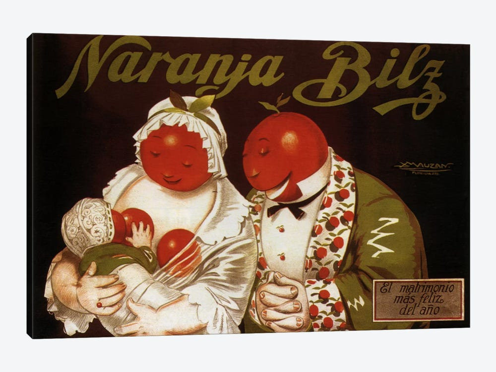 Naranja Bilz Advertising Vintage Poster by Unknown Artist 1-piece Canvas Art
