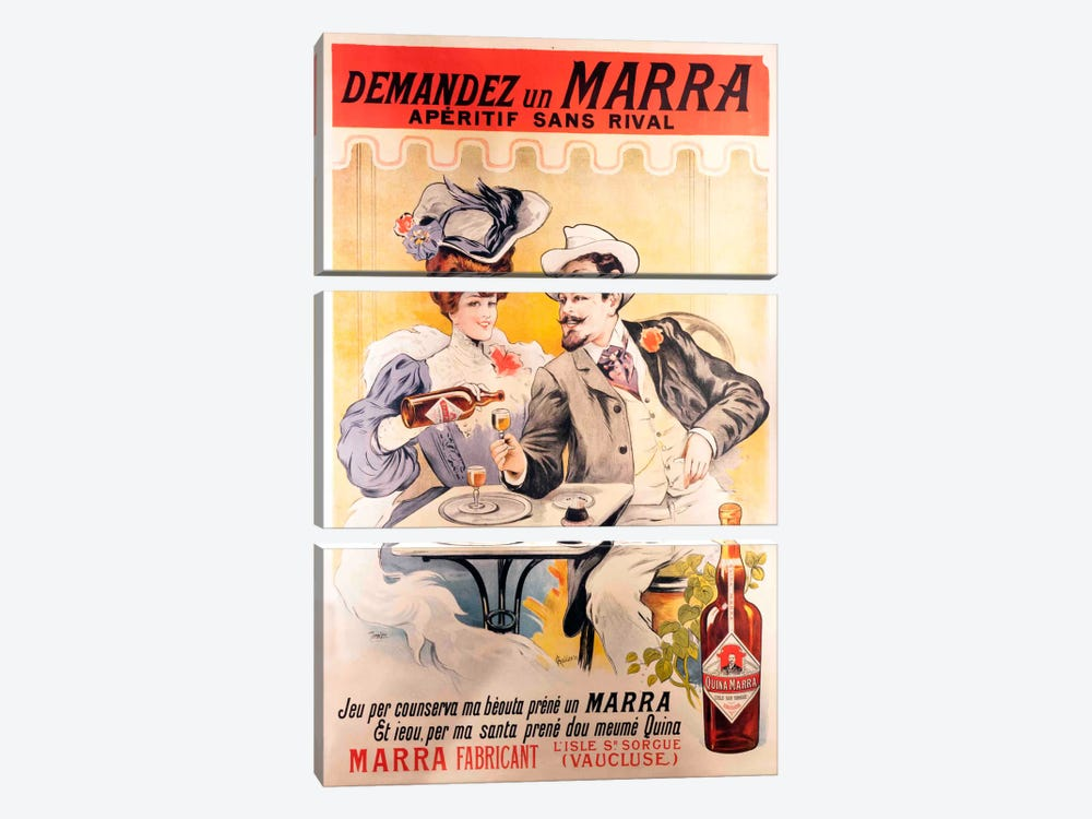 Vintage Ad Poster 3-piece Canvas Art
