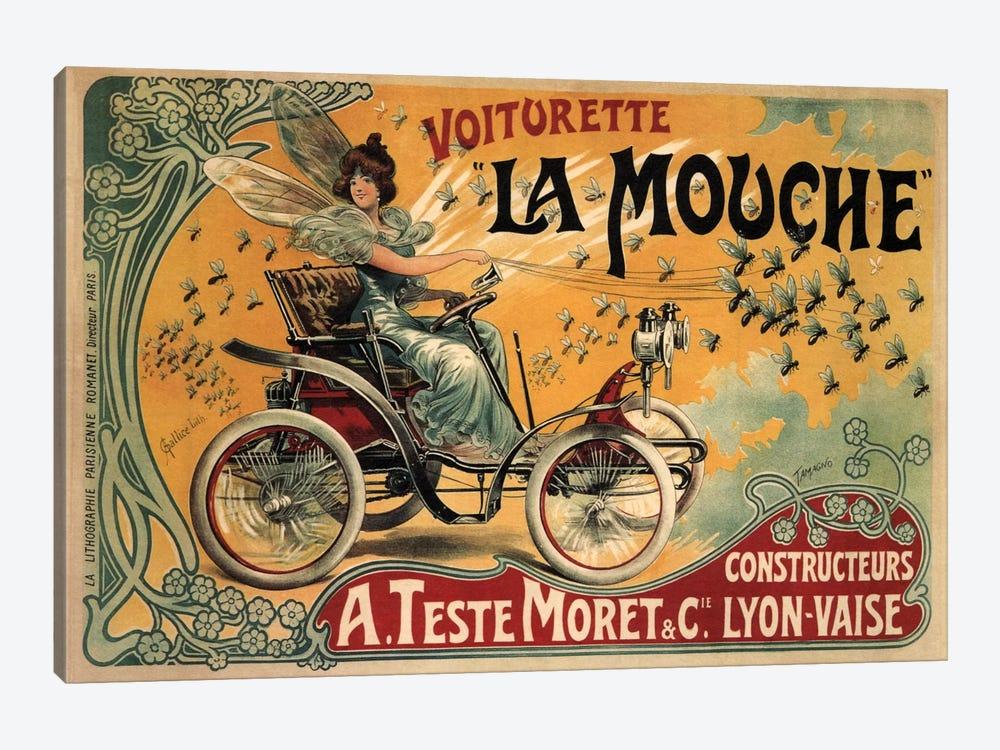 Voiturette La Mouche Advertising Vintage Poster by Unknown Artist 1-piece Canvas Print