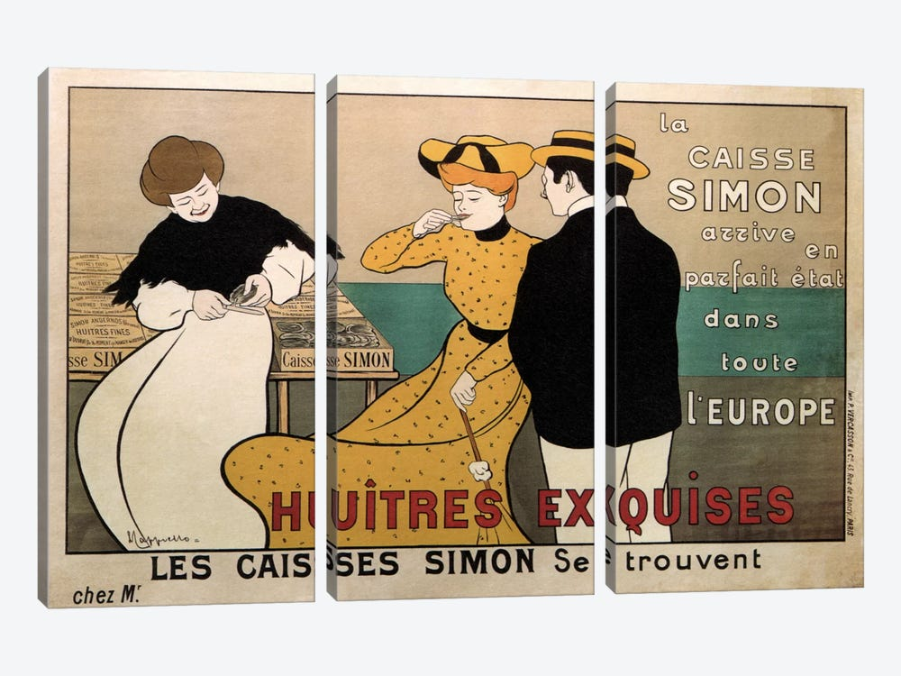 Vintage Ad Poster 3-piece Canvas Art Print