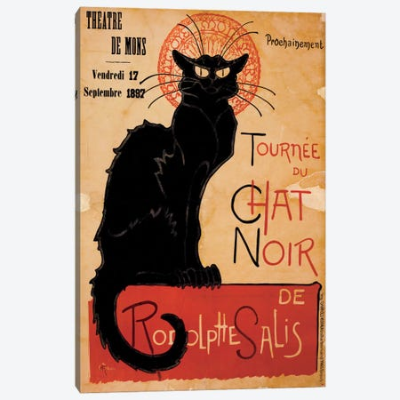 Tournee du Chat Noir Advertising Vintage Poster Canvas Print #5288} Canvas Art Print
