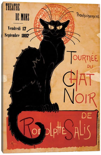 Tournee du Chat Noir Advertising Vintage Poster Canvas Print #5288