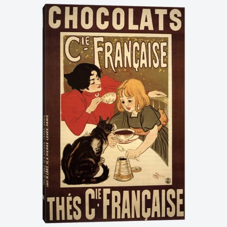 Chocolats Cie Francaise Advertising Vintage Poster Canvas Print #5289} by Unknown Artist Art Print