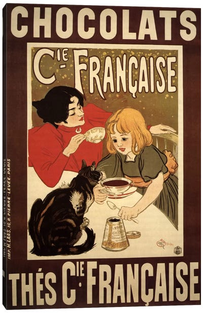 Chocolats Cie Francaise Advertising Vintage Poster Canvas Print #5289