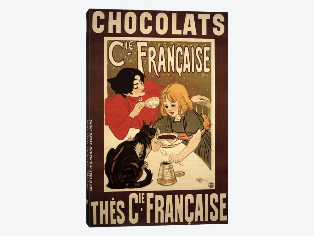 Chocolats Cie Francaise Advertising Vintage Poster 1-piece Canvas Artwork