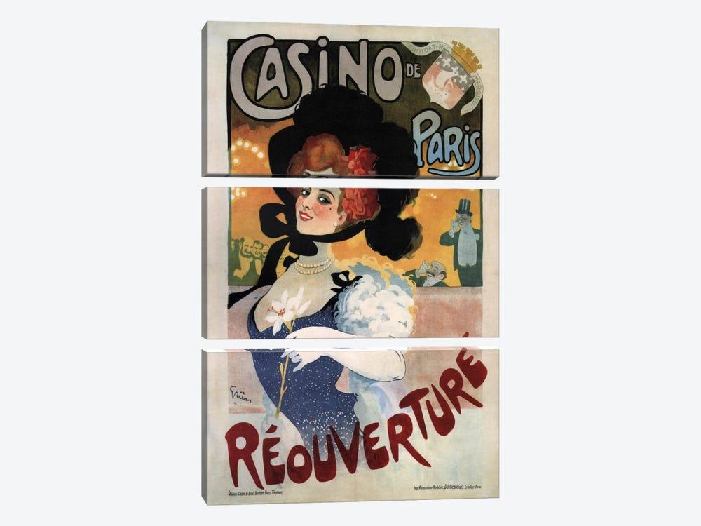 Vintage Ad Poster by Unknown Artist 3-piece Canvas Artwork